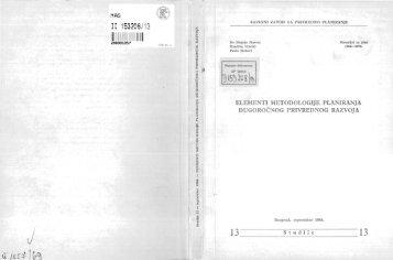 Horvat-Nikolić-Sicherl Elementi metodologije planiranja dugoročnog ...