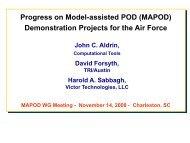 MAPOD - Center for Nondestructive Evaluation - Iowa State University