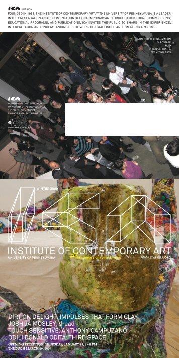 INSTITUTE OF CONTEMPORARY ART - ICA
