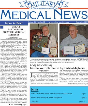 December 2009 - Military Medical   News