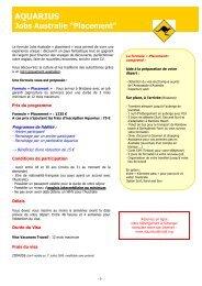 Jobs « Placement » Australie - Aquarius