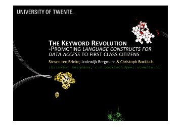 THE KEYWORD REVOLUTION - trese