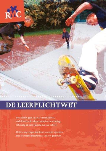 Folder 'De Leerplichtwet' - Gemeente Leeuwarden