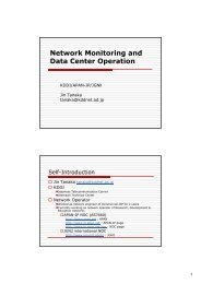 Network Monitoring and Data Center Operation - SOI-Asia