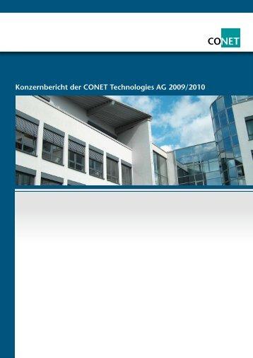 Konzernbericht der CONET Technologies AG 2009 ... - CONET Group