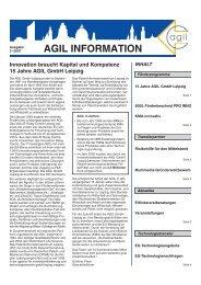 Innovation braucht Kapital und Kompetenz 15 Jahre AGIL GmbH ...