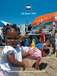 2005 CSR Report - CRH