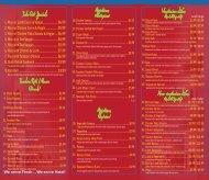 OUR MENU - Madina Restaurant