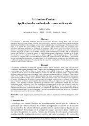 Attribution d'auteur : Application des méthodes de ... - Lexicometrica