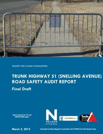 (snelling avenue) road safety audit report