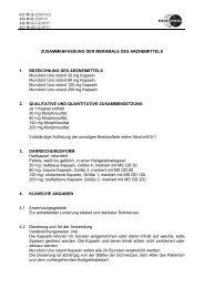ZUSAMMENFASSUNG DER MERKMALE DES ... - Mundipharma