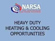 HEAVY DUTY HEATING & COOLING OPPORTUNITIES - Narsa