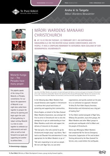 Māori Wardens Newsletter - June 2011 - Te Puni Kokiri
