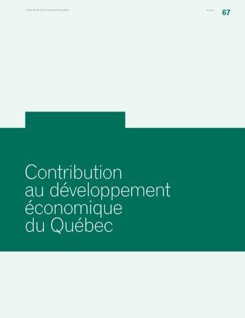 Contribution au développement économique du Québec - Caisse de ...