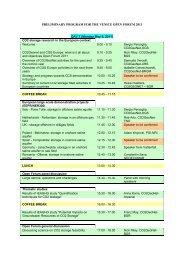 Preliminary Program version 04 - CO2Geonet