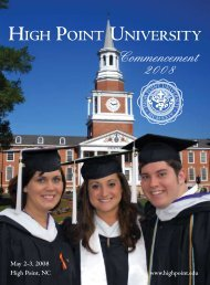 Commencement 2008 - High Point University