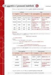 Gli aggettivi e i pronomi indefiniti 19 - Loescher Editore