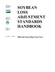 soybean loss adjustment standards handbook - RMA USDA Risk ...