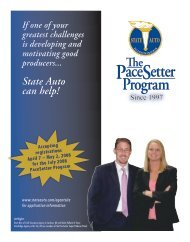 Yes - The PaceSetter Program - State Auto