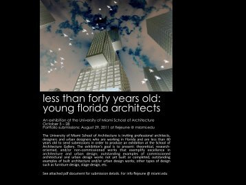 less than forty years old: young florida architects - University of ...