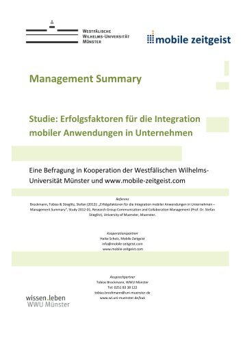 Erfolgsfaktoren zur Integration mobiler ... - Mobile Zeitgeist