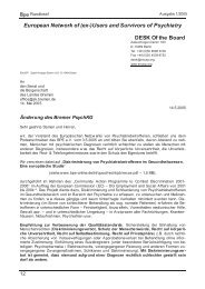 European Network of (ex-) - Antipsychiatrieverlag