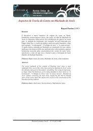 Aspectos de Teoria do Conto em Machado de Assis - Eutomia