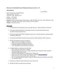 Nõukogu koosoleku protokoll nr 29, 03. juuli 2009 - KÜSK