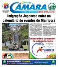 sexta-feira 10 de Maio de 2013 - câmara municipal de mairiporã
