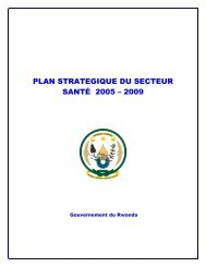 plan strategique du secteur santé 2005 – 2009 - International Health ...