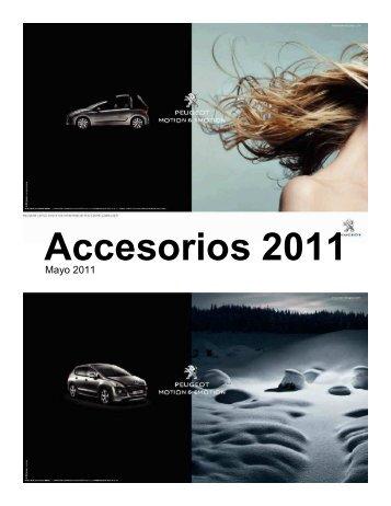 Catálogo de Accesorios de Nuevo 207 Precios y Baremo