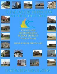 CLEVELAND METROPOLITAN SCHOOL DISTRICT Vision to Victory