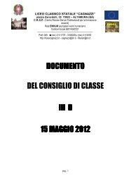 Download Documento15maggioIIID - Liceo Statale Cagnazzi