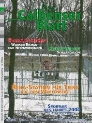 REHA-STATION FÜR TIERE 2004