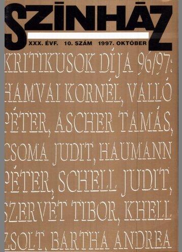 regös jános kenyér és báb peter schumann ... - Színház.net