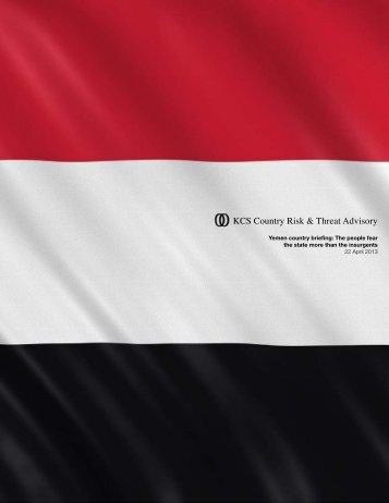 Yemen Country Briefing - KCS Group