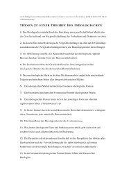 thesen zu einer theorie des ideologischen - Wolfgang Fritz Haug