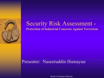 How to Assess General Security Risks - IEP Karachi Centre