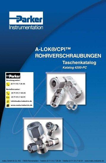 4200-DE A-Lok/CPI Rohrverschraubungen - Parker