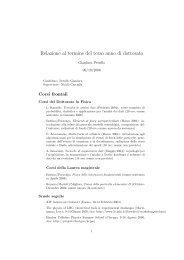 Relazione al termine del terzo anno di dottorato - Universita