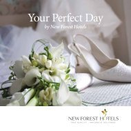New Forest Hotels Wedding Brochure