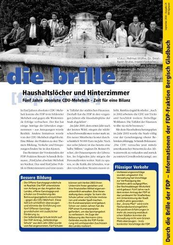die brille [fdp im rat] - FDP Bergisch Gladbach