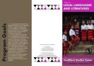 Local Languages and Literature - Cordillera Studies Center - UP ...
