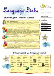 Study English - Tips for Success British English Vs American English