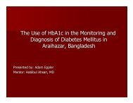 The Use of HbA1c in the Monitoring and Diagnosis of Diabetes ...