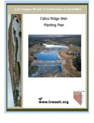 Calico Ridge Weir Planting Plan - Las Vegas Wash Coordination ...