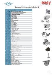 Contents Aluminium profile Series 45 - easy systems