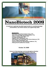 NanoBiotech 2009 - Rensselaer Alumni - Rensselaer Polytechnic ...