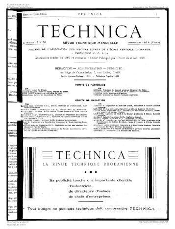 Revue Technica, année 1934, numéro Hors Série 1 - Histoire de l ...