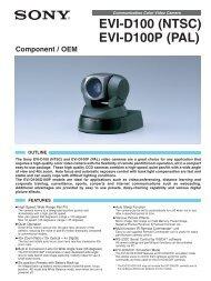 EVI-D100 (NTSC) EVI-D100P (PAL) - Sony Asia Pacific